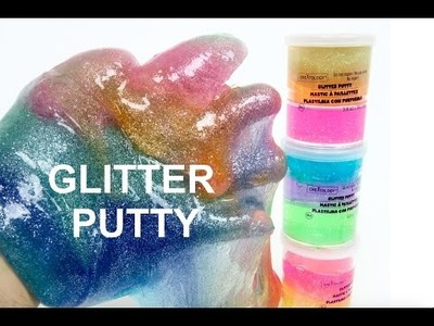 DIY GLITTER PUTTY! How to make Magical & Multicolor Sparkle Slime