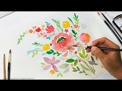 DIY Greeting Card. Watercolor Painting - Level 3