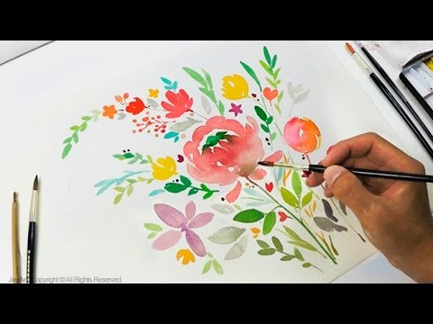 DIY Greeting Card. Watercolor Painting - Level 3