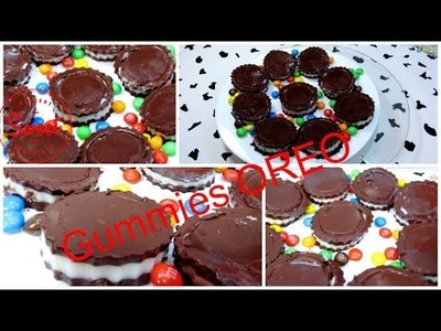 DIY Gummy Oreo - How To Make Gummies Oreo With Milk, Cocoa And Gelatin