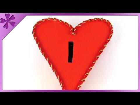 DIY Heart coin bank (ENG Subtitles) - Speed up #180