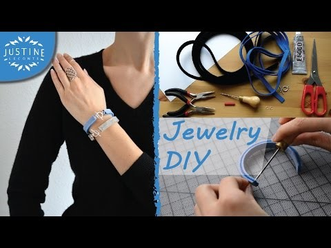 DIY jewelry: How to make felted wool & silver bracelets | Easy tutorial | Justine Leconte