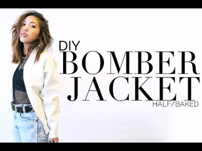 DIY Leather Bomber Jacket | Half Baked