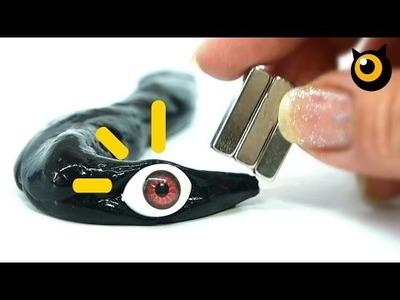 DIY Magnetic SLIME. Monster Magnet Slime !!