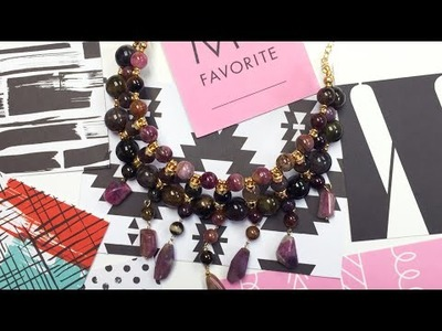 DIY Memory Wire Gold Filled Gemstone Necklace