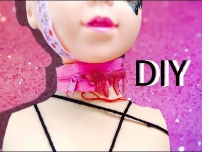 [DIY] menhera blood zipper choker