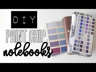 DIY Paint Chip Notebooks.Midori Inserts.Journals