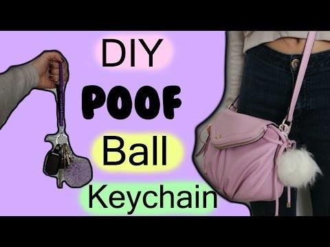 DIY Poof Ball Keychain | Tumblr Inspired | 2 ways