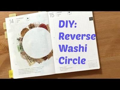 DIY Reverse Washi Circle | Travelling Hobonichi Journal With Me Ep2