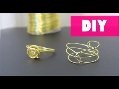 DIY: RINGS WITH WIRE |  Faça seu próprio anel!
