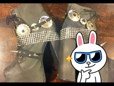 ►DIY - Shoe Belts! SO EASY! Concho, Spiked, and Ribbon shoe belts!