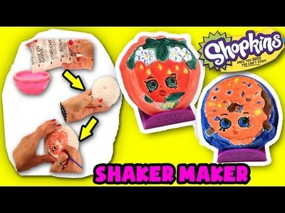 ★DIY Shopkins Shaker Maker★ Paint Your Own DIY Shopkins Shaker Maker Arts & Craft Toy Video