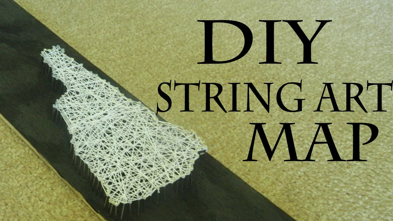 DIY String Art Map Decor
