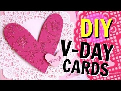 DIY Valentines Day Cards! Cheap & Easy! 2016