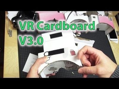 """DIY - VR Cardboard Goggles V3.0 (up to 6"""")"""