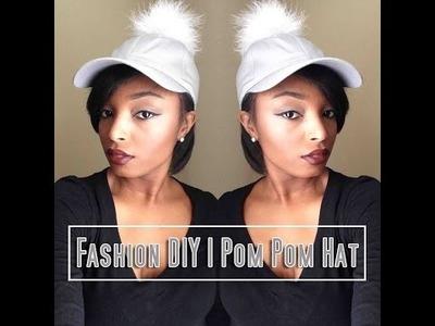 Fashion DIY Pom Pom Hat