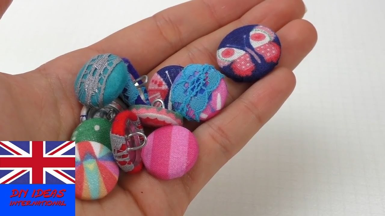 Handmade Decorative embellishment Buttons - Step by step tutorial