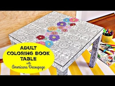 HOW TO: Coloring Book Table DIY