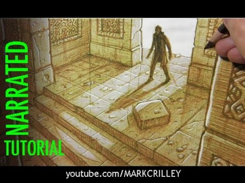 How to Draw Interior Spaces: 3-Point Perspective