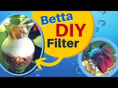 How to make a easy DIY Aquarium Filter for BETTA FISH | Sponge Air Pump Filter