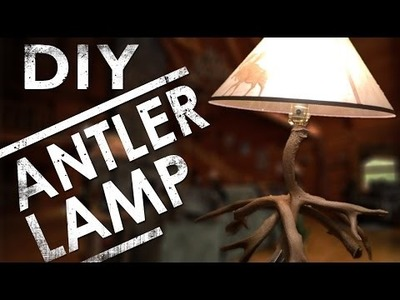 How to Make an Antler Lamp DIY | The Sticks Outfitter