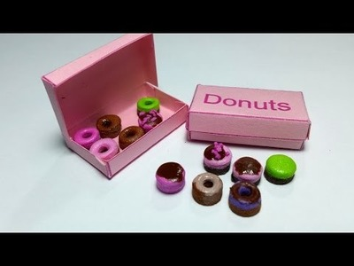 How to Make Miniature Donuts & Donut Box : LPS Doll Food DIY