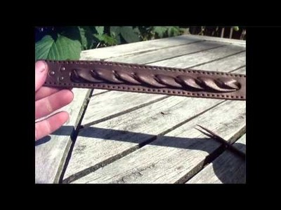 Jeweleeches: how to make leather bracelet with horsehair! TUTORIAL