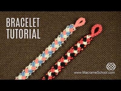 Knotted Plait Bracelet Tutorial | Macrame School