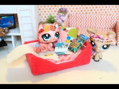 LPS DIY dogbed | How to make a doll dog bed