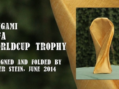 Origami FIFA Worldcup Trophy 2014