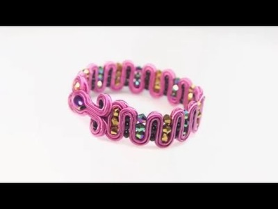 Soutache bracelet  - Tutorial DIY Djenka