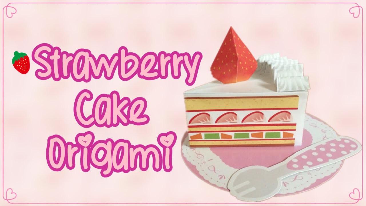 Strawberry Short Cake Origami Kit Tutorial