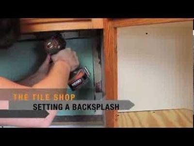 The Tile Shop DIY: Setting a Backsplash to Tile.