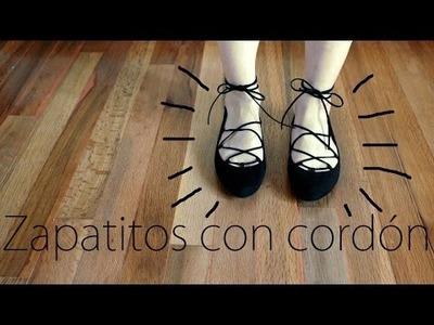 Zapatitos con cordón - DIY