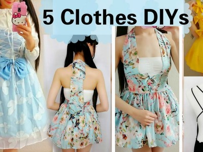 5 DIY Clothes Transformations | How to Transform.Upcycle your old clothes