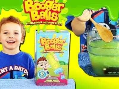 ★Booger Balls Review★ How to Make DIY Booger Balls - Slime & Goo Booger Balls Toys Unboxing