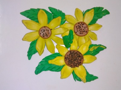 Clay tutorial : how to make sunflower with clay [creative ideas]