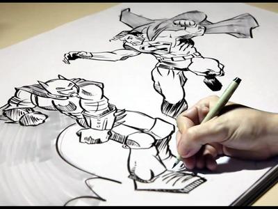 Desenhando Batman X Superman  (How To Draw Batman X Superman)