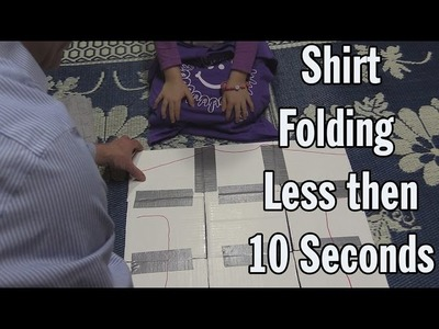 How a young Engineer folds a T-Shirt using cardboard template in less then 10 seconds