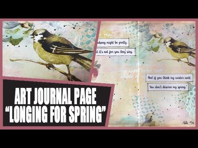 How to: Art Journal Page - Spring