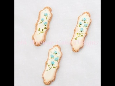 How to Decorate Wet on Wet Rose Cookies with Stylish Attitude