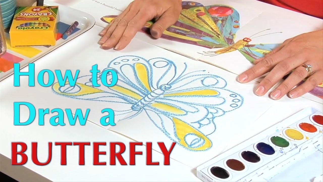 How to Draw a Butterfly - Great Artist Mom