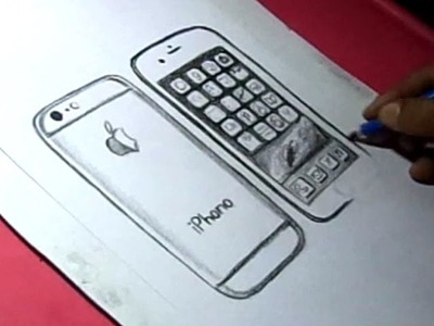 How to Draw Apple iPhone 6 Drawing for kids