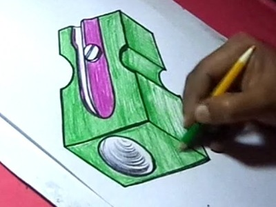 How to Draw Pencil Sharpener Drawing for kids