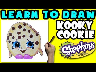 How To Draw Shopkins: Kooky Cookie - Learn How To Draw Season 1 Shopkins, Drawing Shopkins Season 1