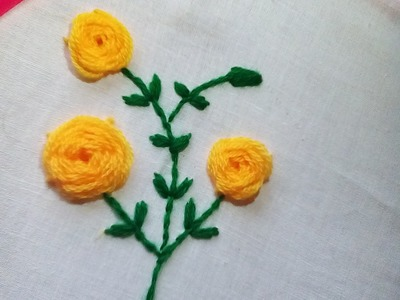 How to Embroider a Rose Flower