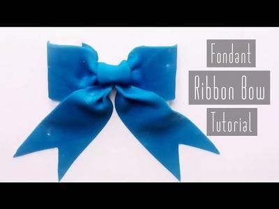 How to Make a Fondant Ribbon Bow