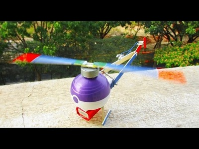 How To Make a Helicopter - Easy Way - Homemade Helicopter - RC Helicopter