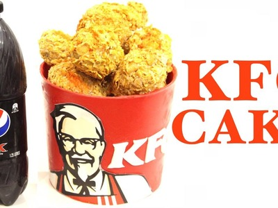 HOW TO MAKE A KFC BUCKET CAKE AND CHOCOLATE PEPSI MAX BOTTLE!