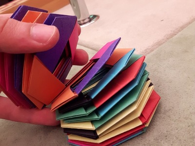How to make a Paper slinky? (Origami)